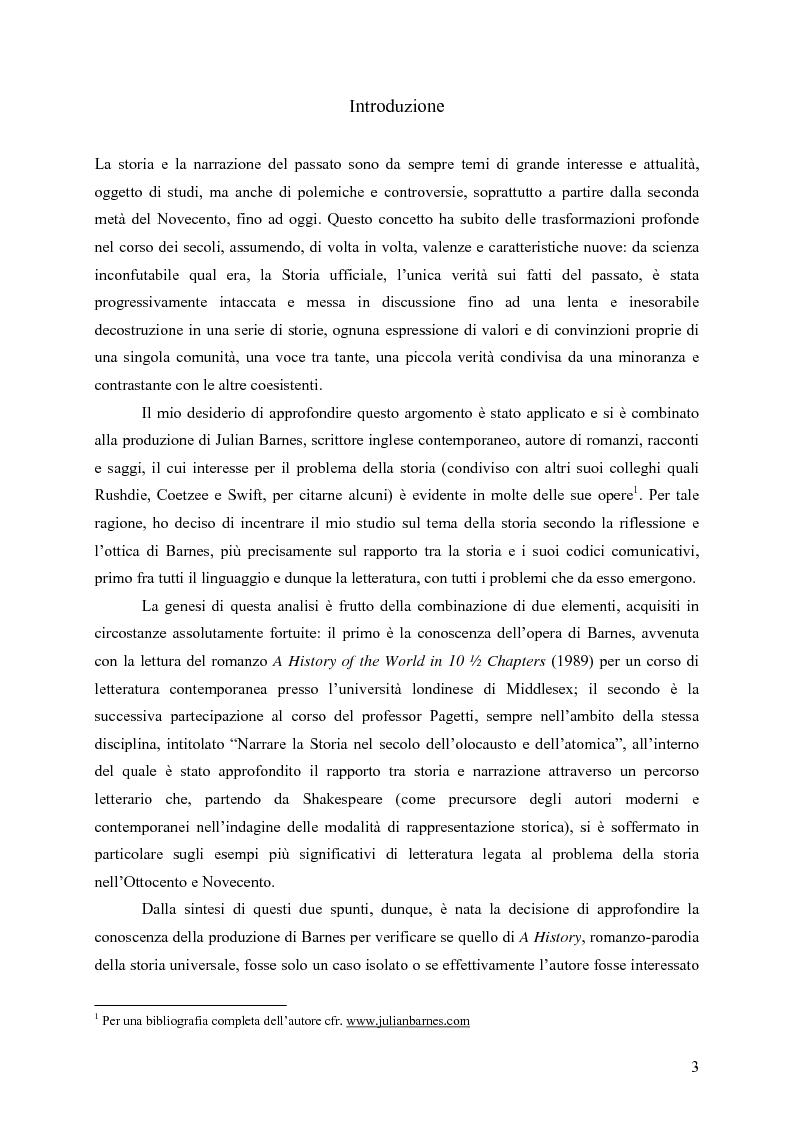 """Anteprima della tesi: """"History is merely another literary genre"""": Julian Barnes e l'""""invenzione"""" della storia, Pagina 1"""