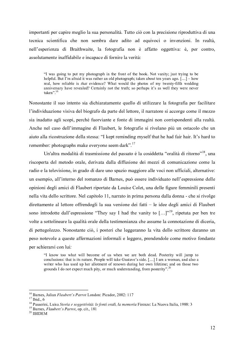"""Anteprima della tesi: """"History is merely another literary genre"""": Julian Barnes e l'""""invenzione"""" della storia, Pagina 10"""