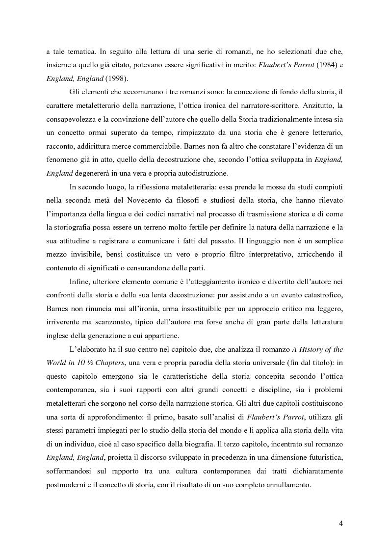 """Anteprima della tesi: """"History is merely another literary genre"""": Julian Barnes e l'""""invenzione"""" della storia, Pagina 2"""