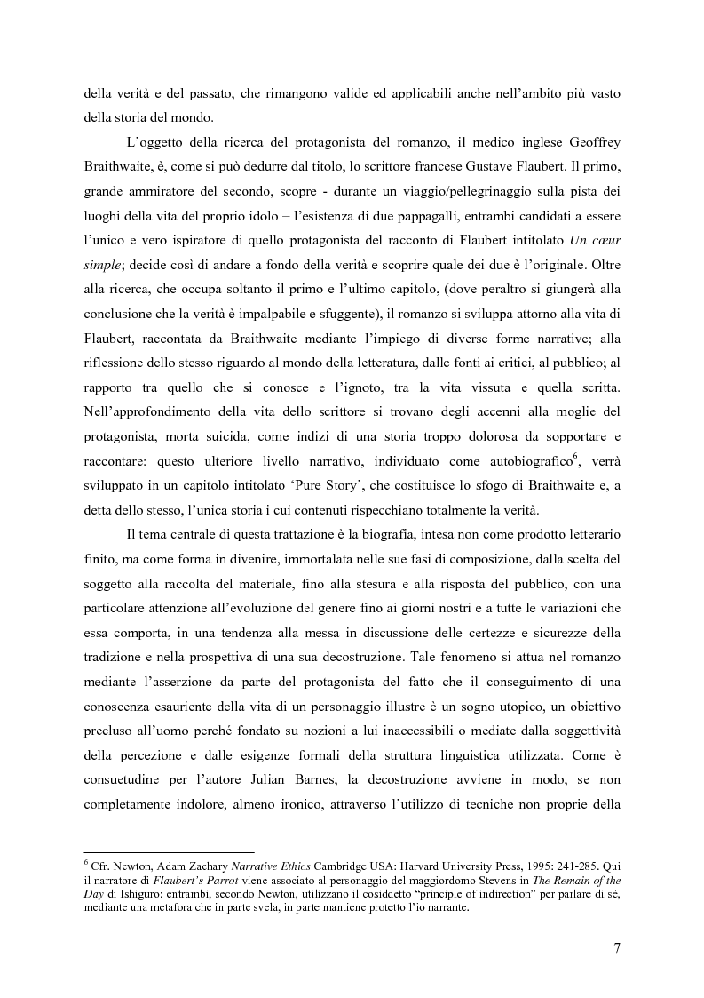 """Anteprima della tesi: """"History is merely another literary genre"""": Julian Barnes e l'""""invenzione"""" della storia, Pagina 5"""