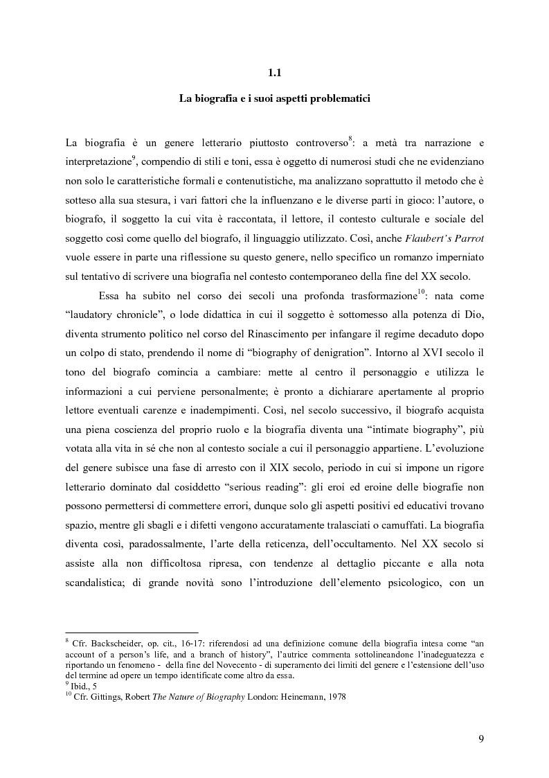 """Anteprima della tesi: """"History is merely another literary genre"""": Julian Barnes e l'""""invenzione"""" della storia, Pagina 7"""