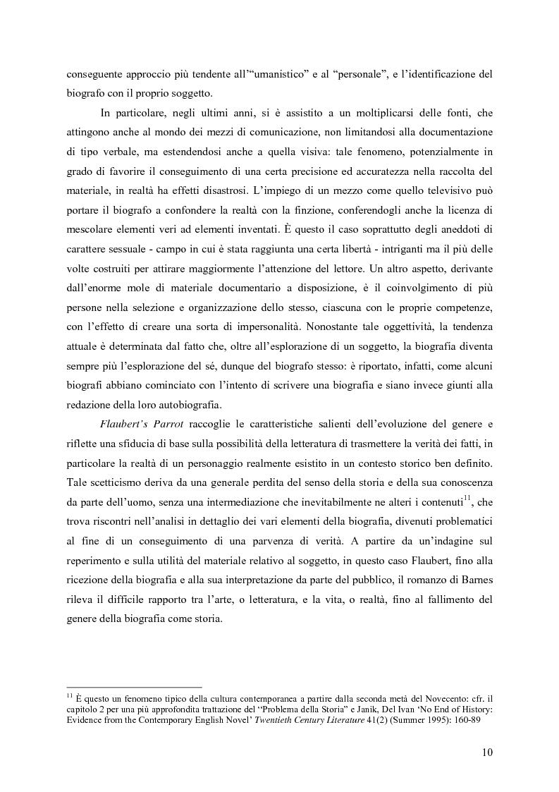 """Anteprima della tesi: """"History is merely another literary genre"""": Julian Barnes e l'""""invenzione"""" della storia, Pagina 8"""