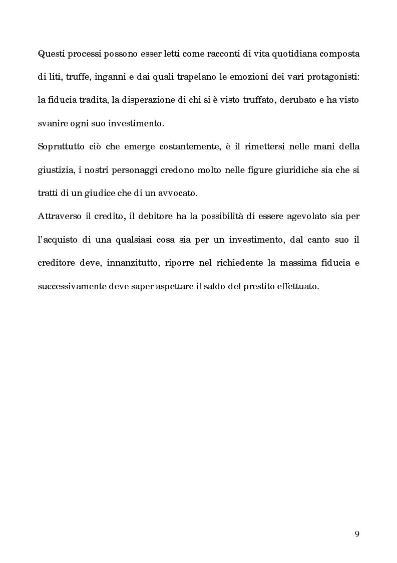 Anteprima della tesi: I processi per debito nella Roma del 1600, Pagina 4