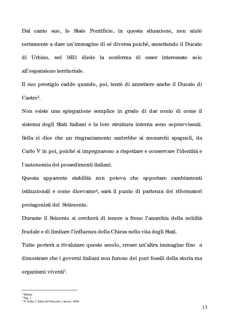 Anteprima della tesi: I processi per debito nella Roma del 1600, Pagina 8
