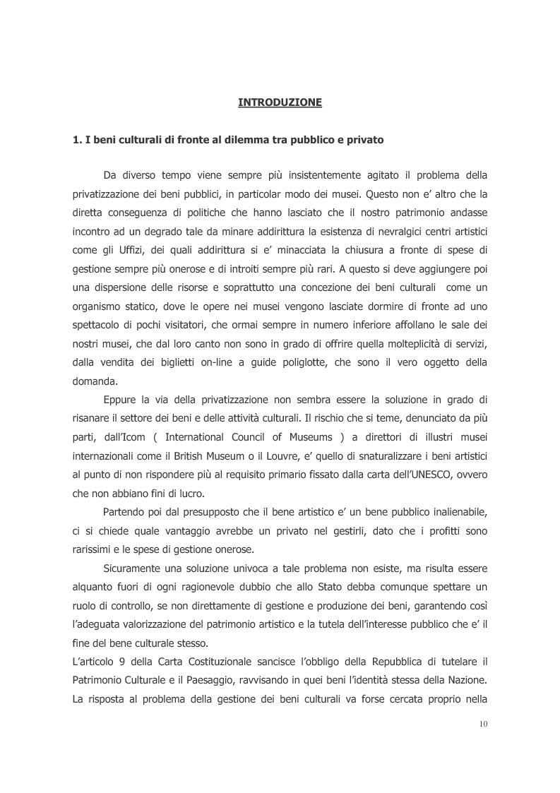 Anteprima della tesi: L'ecosistema culturale e l'analisi dei beni artistici come risorse non rinnovabili, Pagina 1