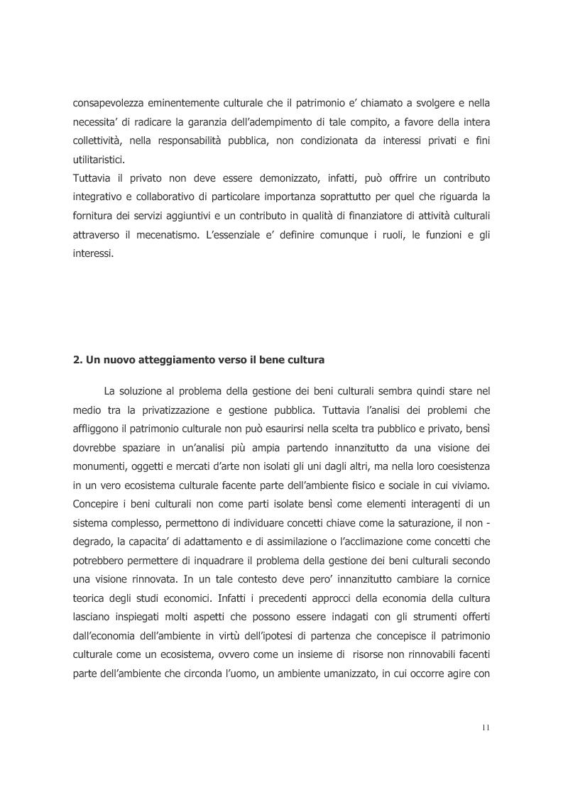 Anteprima della tesi: L'ecosistema culturale e l'analisi dei beni artistici come risorse non rinnovabili, Pagina 2