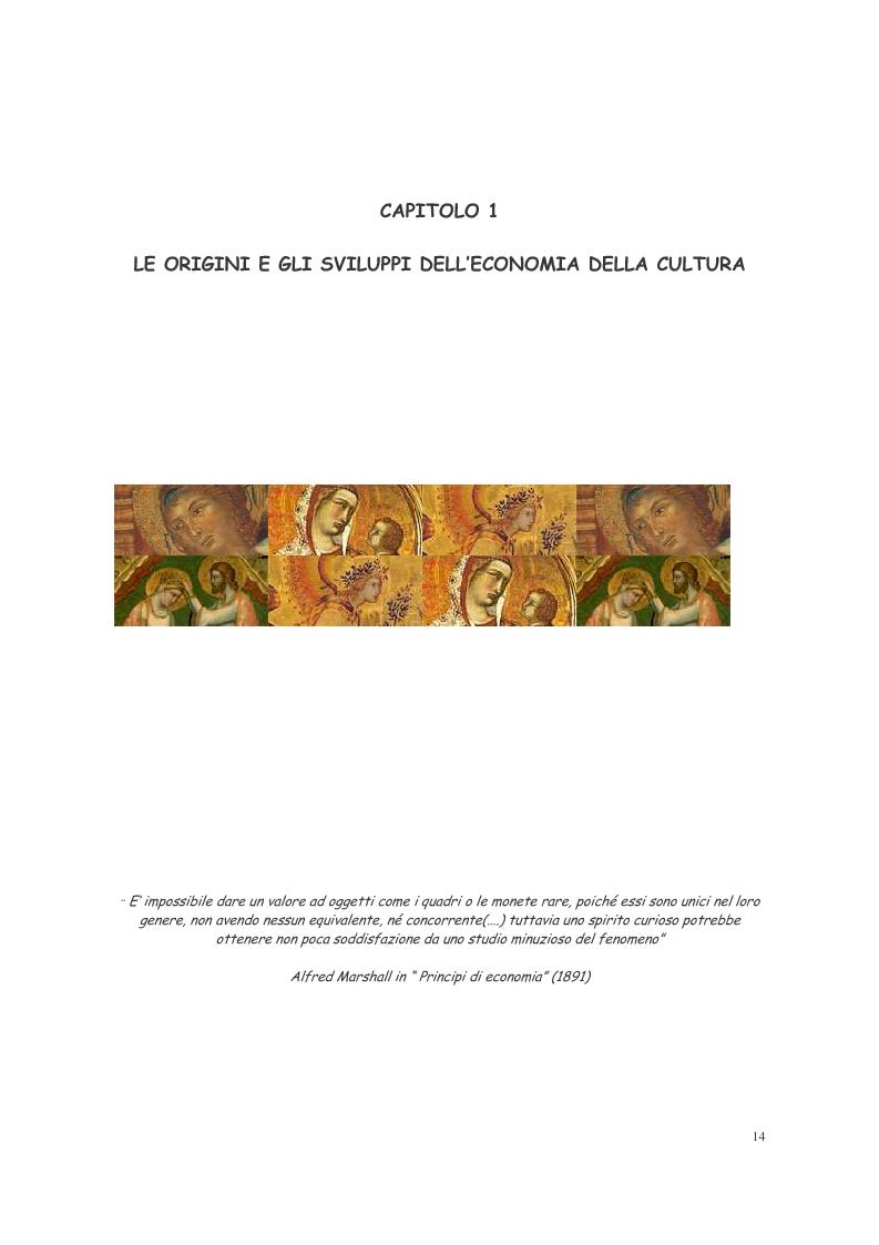 Anteprima della tesi: L'ecosistema culturale e l'analisi dei beni artistici come risorse non rinnovabili, Pagina 5