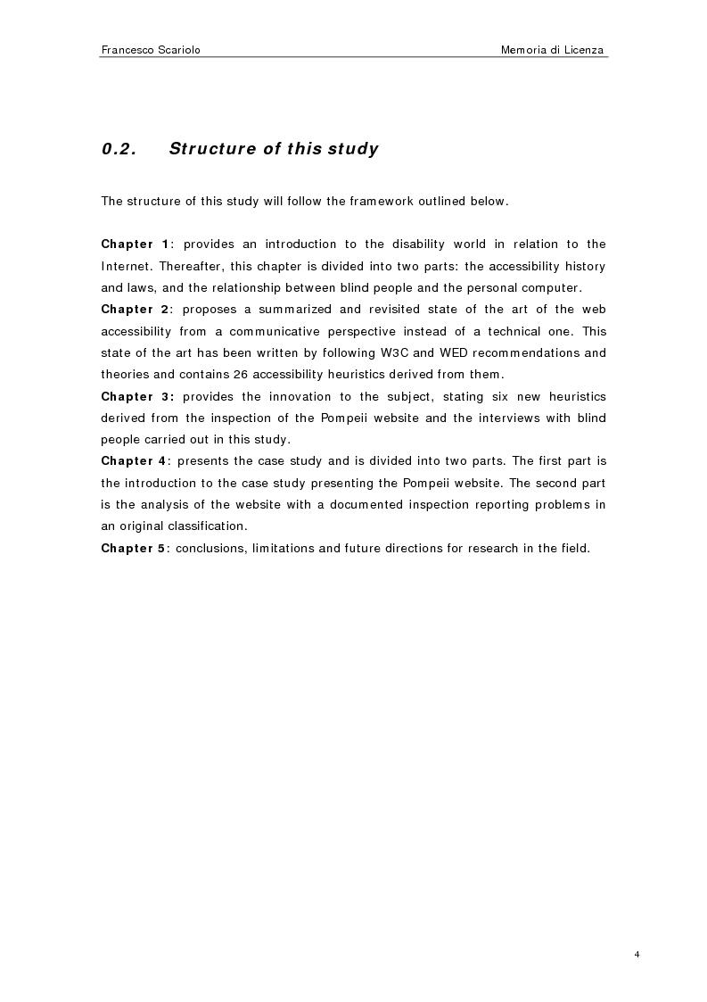 Anteprima della tesi: Web Accessibility: a Blind Look at the ''Pompeii Website'', Pagina 2