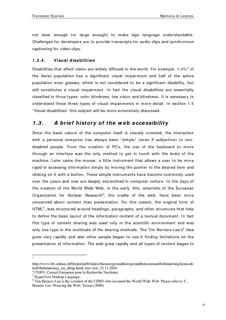 Anteprima della tesi: Web Accessibility: a Blind Look at the ''Pompeii Website'', Pagina 6