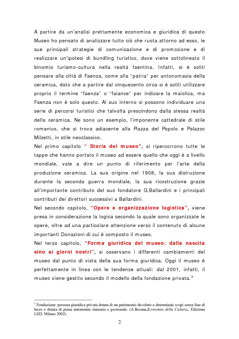 Anteprima della tesi: Da pubblico a privato: Il Museo Virtuoso. La Fondazione MIC di Faenza., Pagina 2