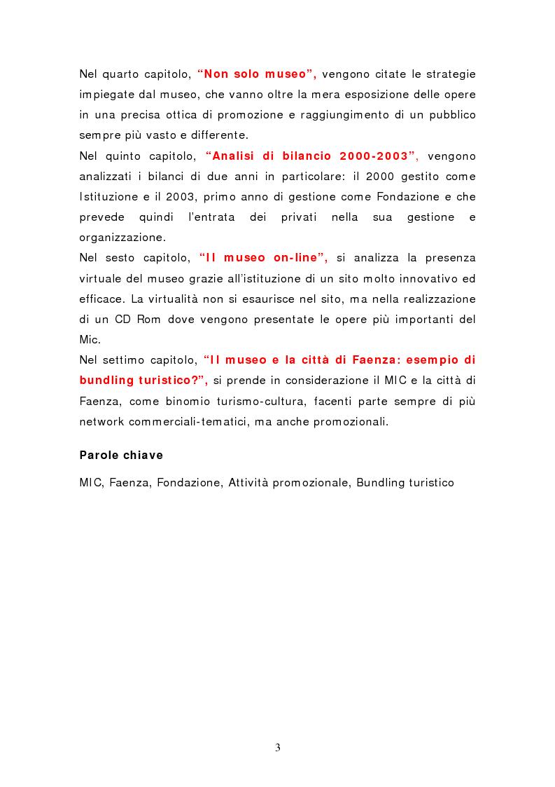 Anteprima della tesi: Da pubblico a privato: Il Museo Virtuoso. La Fondazione MIC di Faenza., Pagina 3