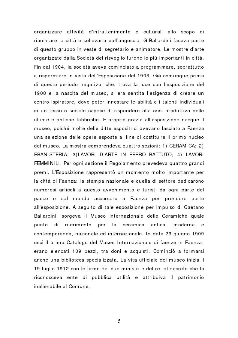 Anteprima della tesi: Da pubblico a privato: Il Museo Virtuoso. La Fondazione MIC di Faenza., Pagina 5