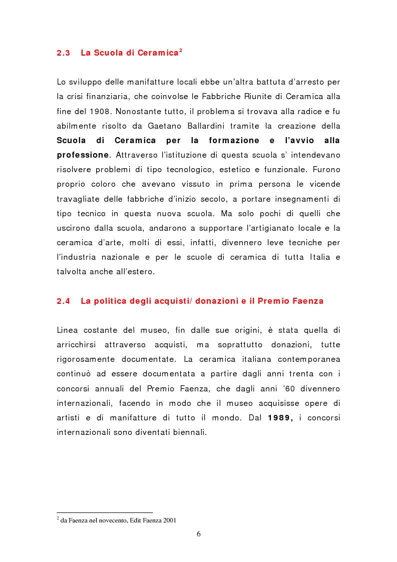 Anteprima della tesi: Da pubblico a privato: Il Museo Virtuoso. La Fondazione MIC di Faenza., Pagina 6