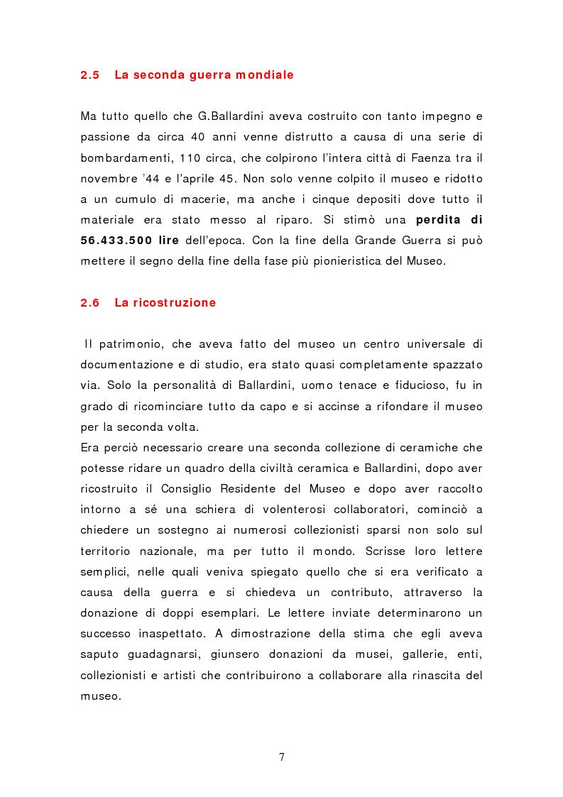 Anteprima della tesi: Da pubblico a privato: Il Museo Virtuoso. La Fondazione MIC di Faenza., Pagina 7