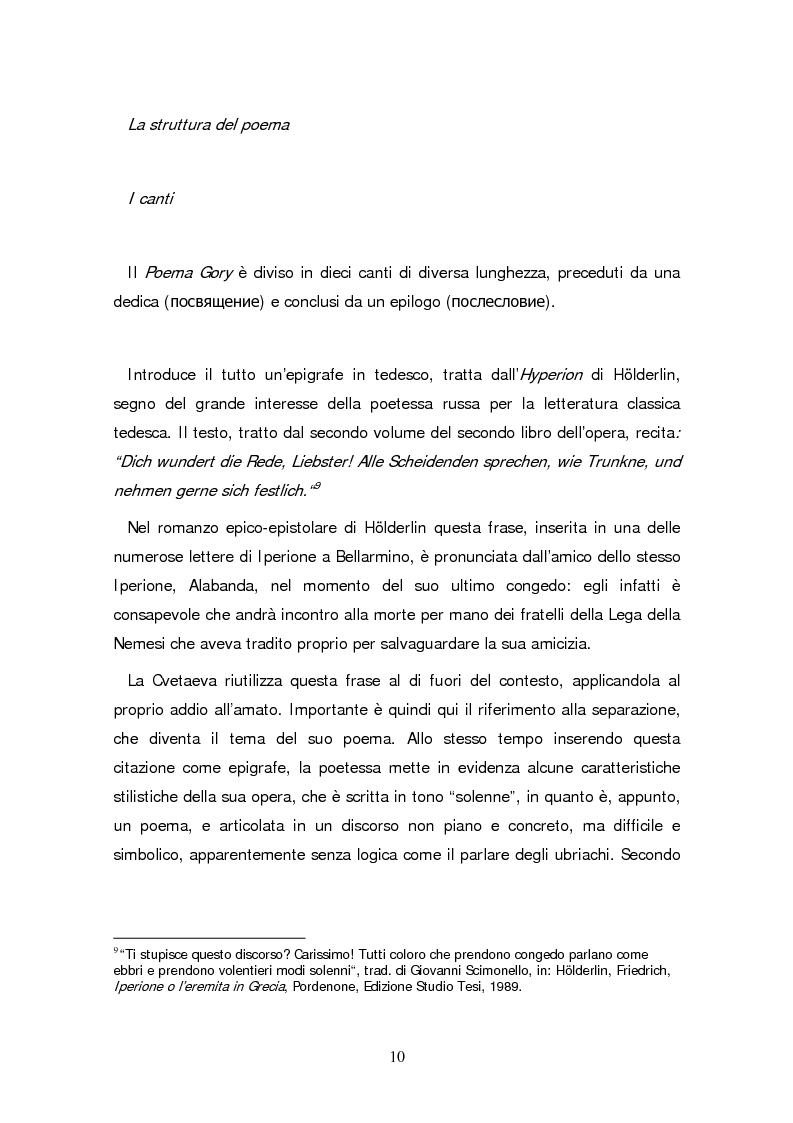 Anteprima della tesi: Due traduzioni ceche del Poema Gory di Marina Cvetaeva, Pagina 12