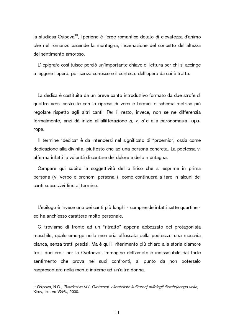 Anteprima della tesi: Due traduzioni ceche del Poema Gory di Marina Cvetaeva, Pagina 13