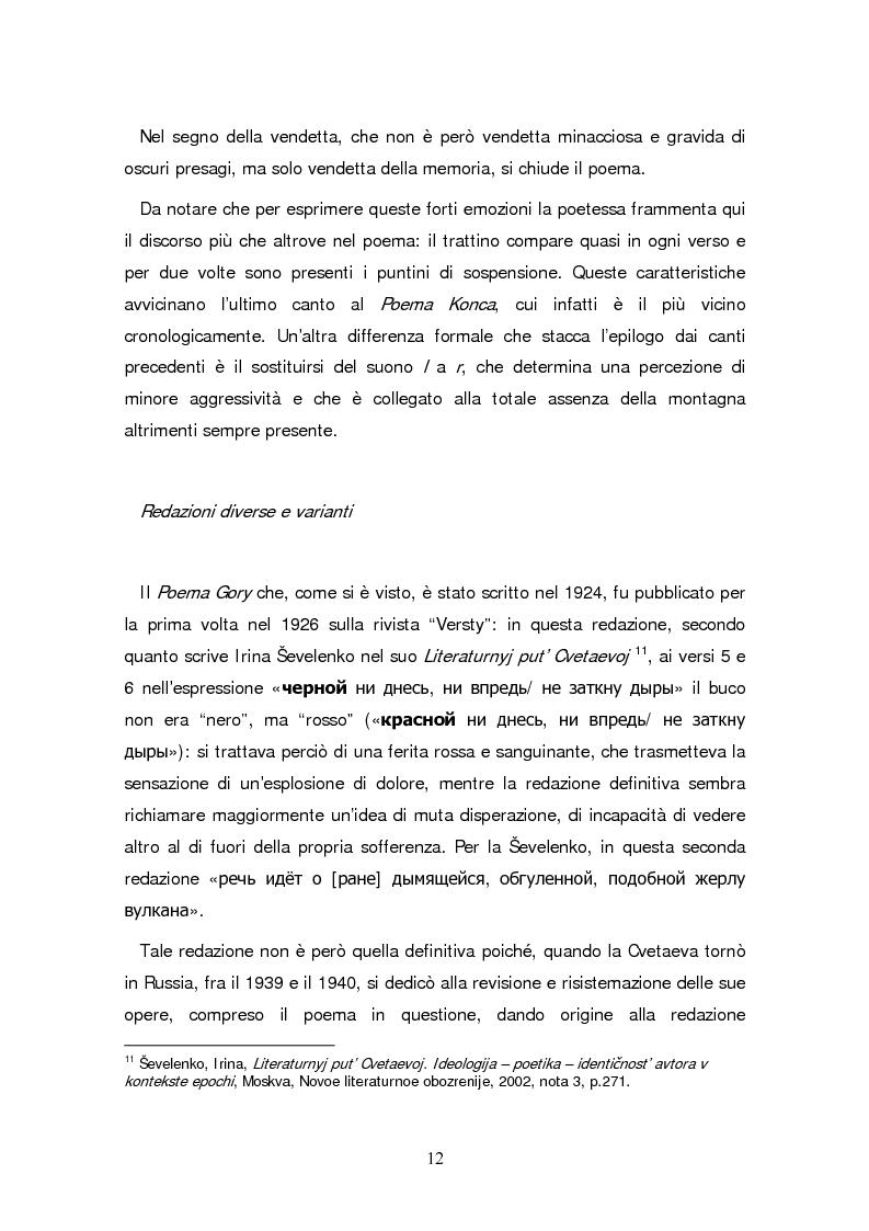 Anteprima della tesi: Due traduzioni ceche del Poema Gory di Marina Cvetaeva, Pagina 14