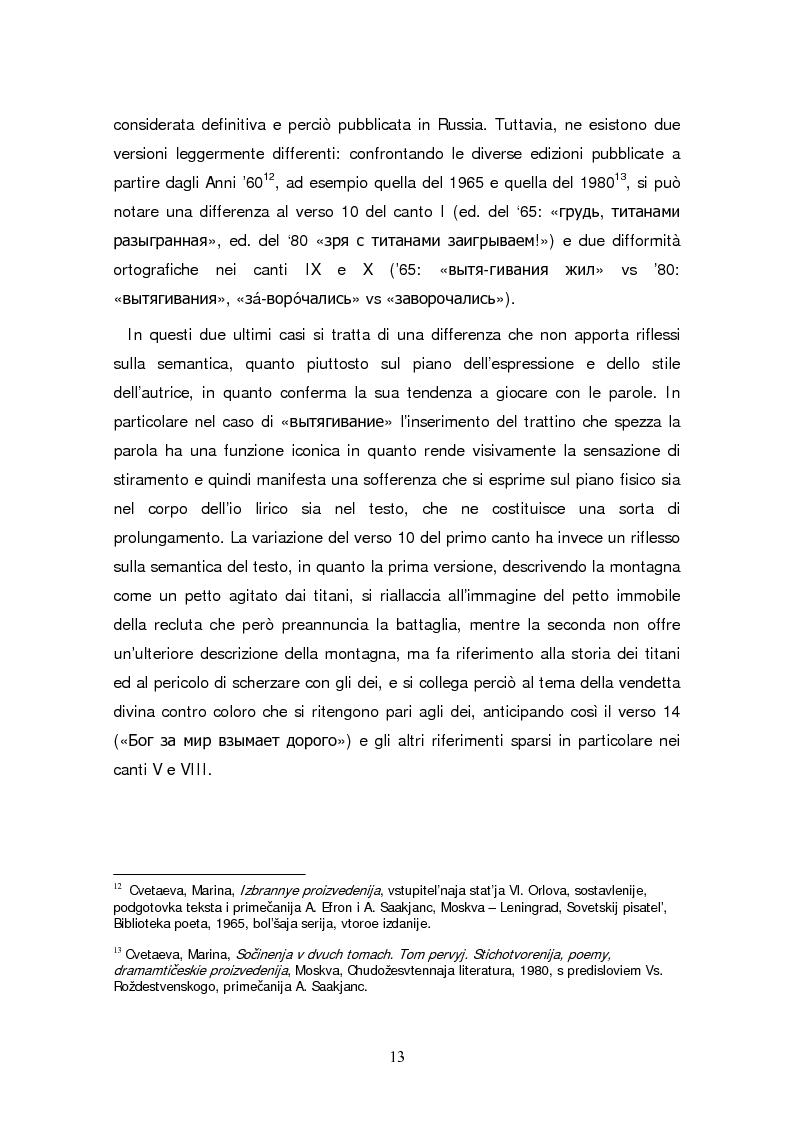 Anteprima della tesi: Due traduzioni ceche del Poema Gory di Marina Cvetaeva, Pagina 15