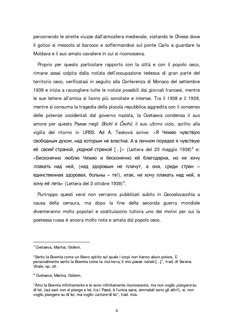Anteprima della tesi: Due traduzioni ceche del Poema Gory di Marina Cvetaeva, Pagina 6