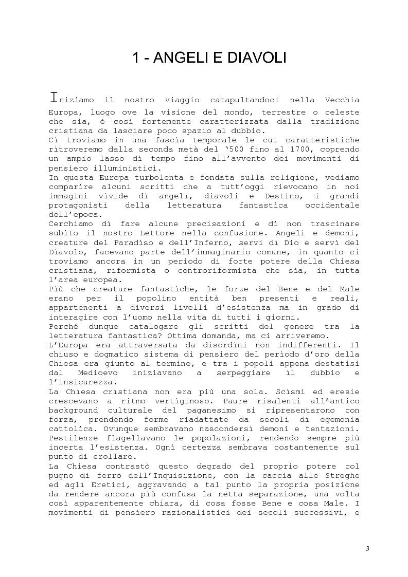 Anteprima della tesi: Il romanzo fantastico - Breve saggio da William Shakespeare ai giorni nostri, Pagina 3