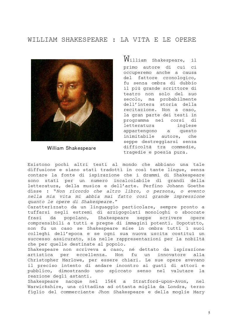 Anteprima della tesi: Il romanzo fantastico - Breve saggio da William Shakespeare ai giorni nostri, Pagina 5
