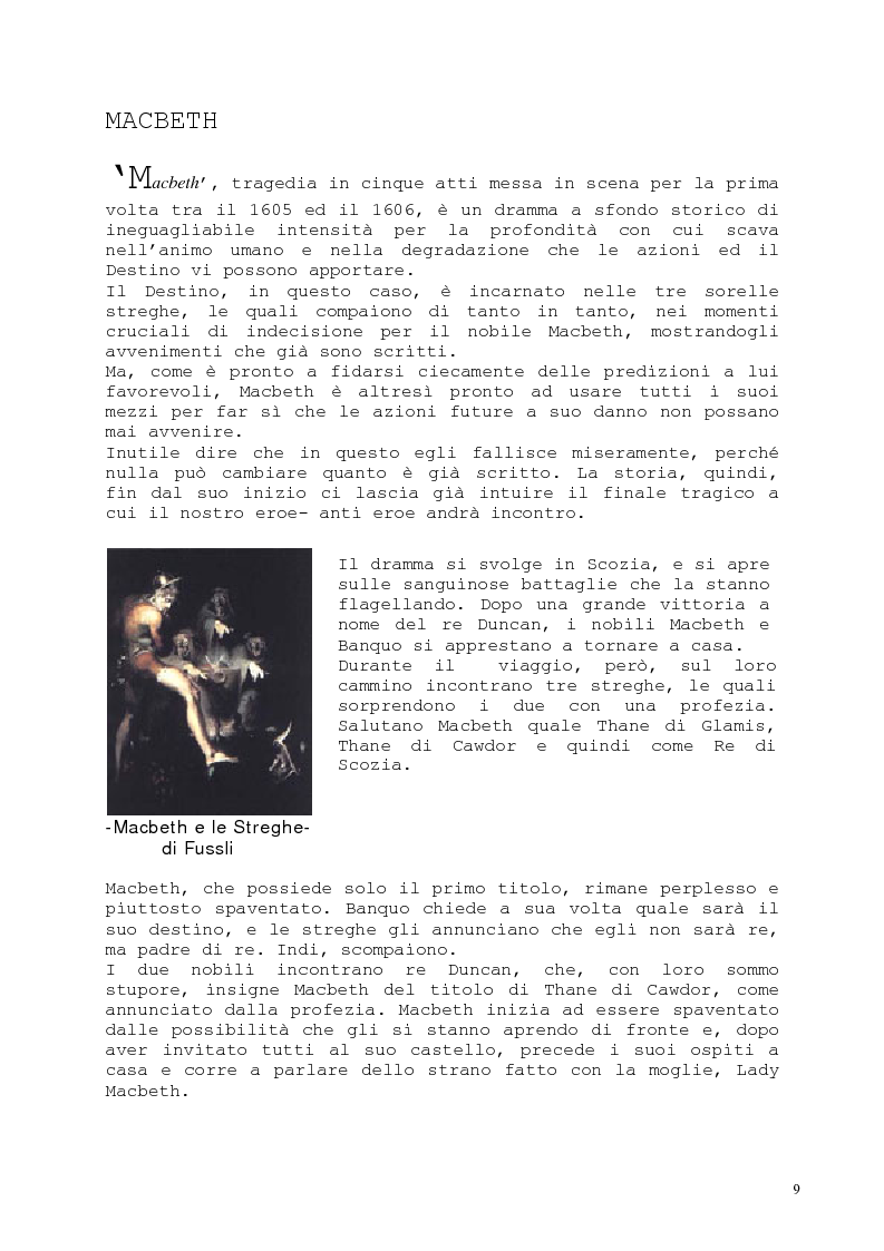 Anteprima della tesi: Il romanzo fantastico - Breve saggio da William Shakespeare ai giorni nostri, Pagina 9
