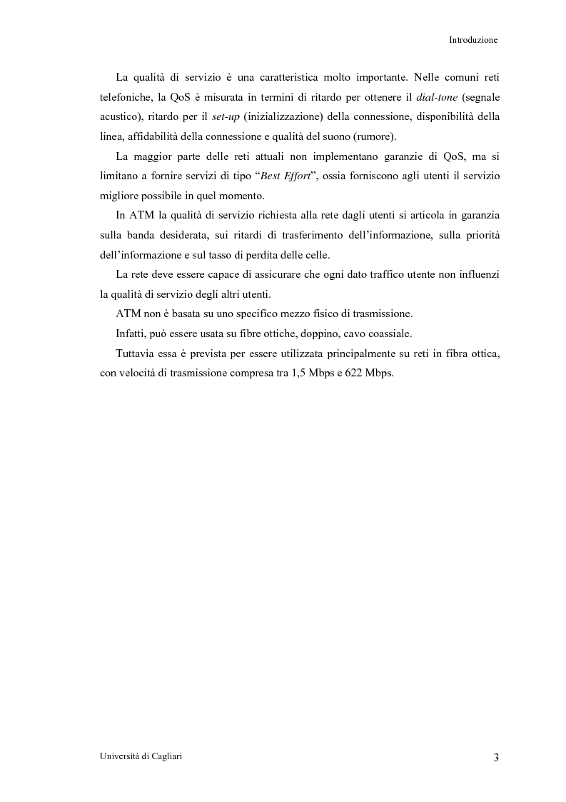 Anteprima della tesi: Tecniche per la valutazione del ritardo end to end nelle reti ATM, Pagina 4