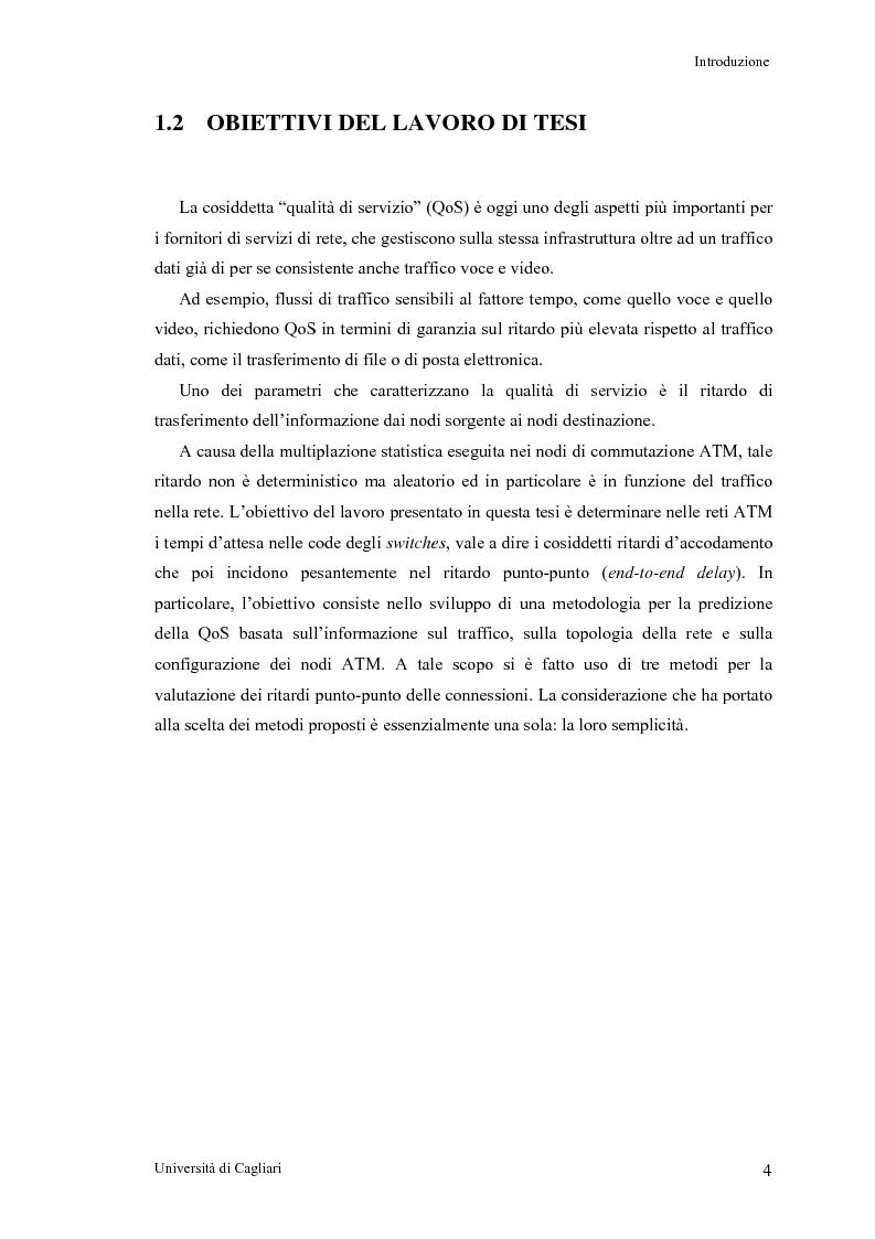 Anteprima della tesi: Tecniche per la valutazione del ritardo end to end nelle reti ATM, Pagina 5