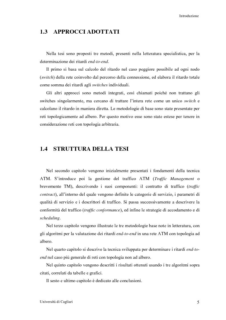 Anteprima della tesi: Tecniche per la valutazione del ritardo end to end nelle reti ATM, Pagina 6
