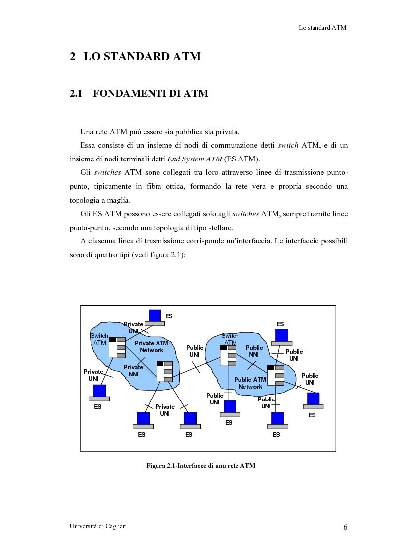 Anteprima della tesi: Tecniche per la valutazione del ritardo end to end nelle reti ATM, Pagina 7