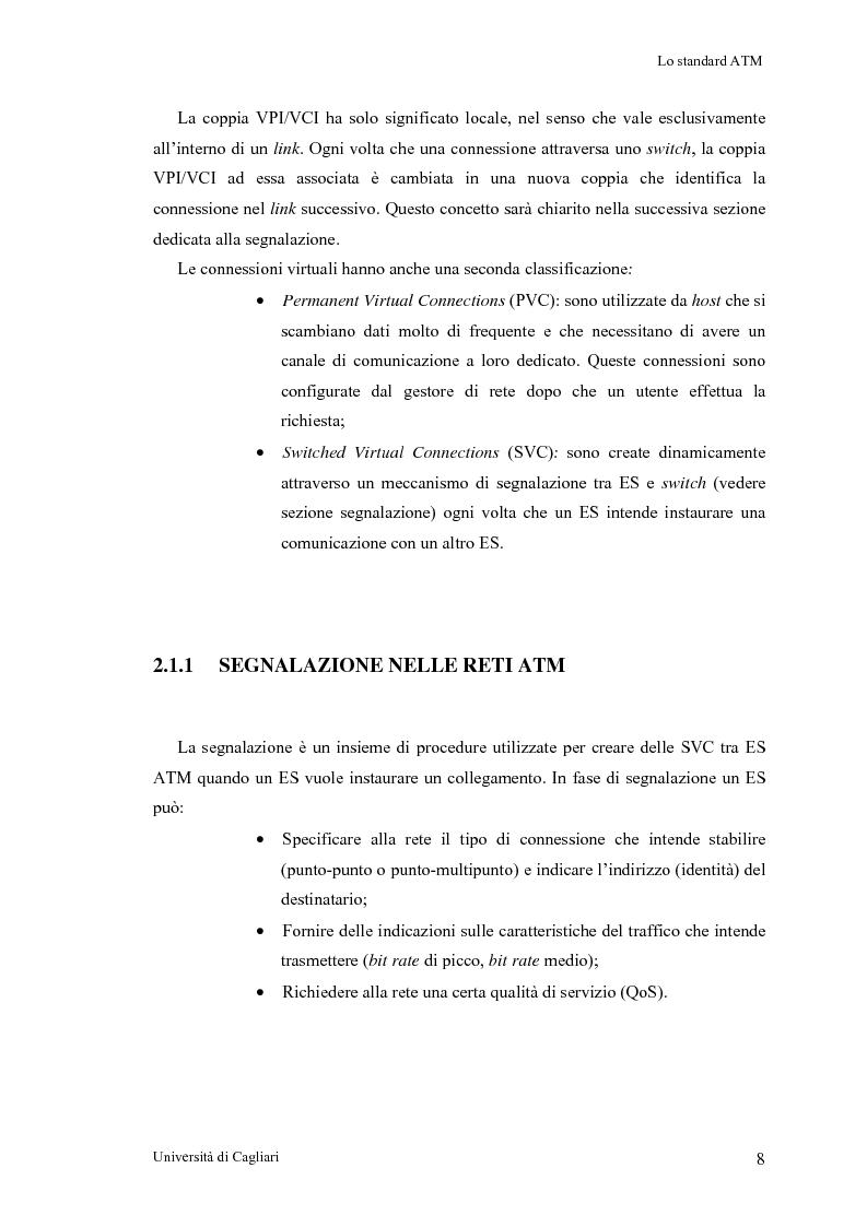 Anteprima della tesi: Tecniche per la valutazione del ritardo end to end nelle reti ATM, Pagina 9