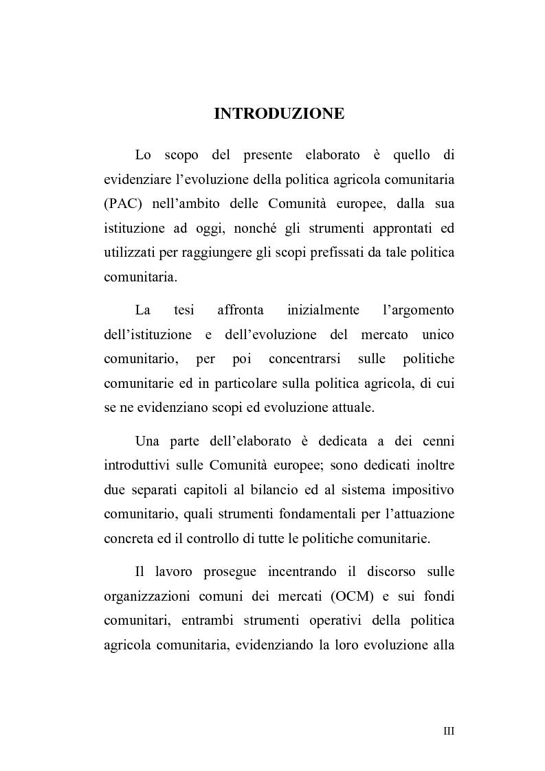 Anteprima della tesi: La politica agricola comunitaria: alcuni effetti distorsivi, Pagina 1