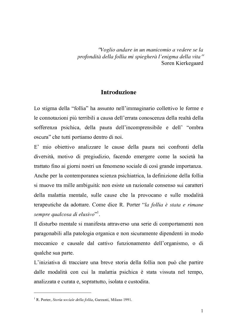 Anteprima della tesi: Il trattamento della malattia mentale. Il CSM di Rimini, Pagina 1