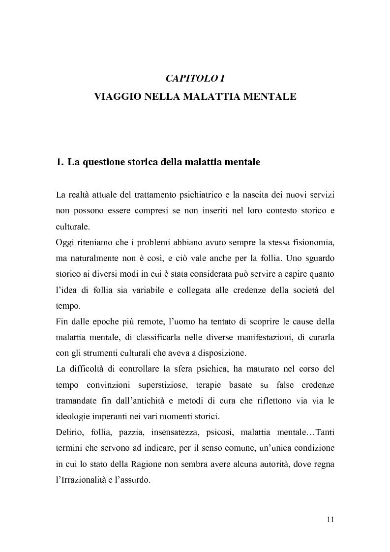 Anteprima della tesi: Il trattamento della malattia mentale. Il CSM di Rimini, Pagina 11