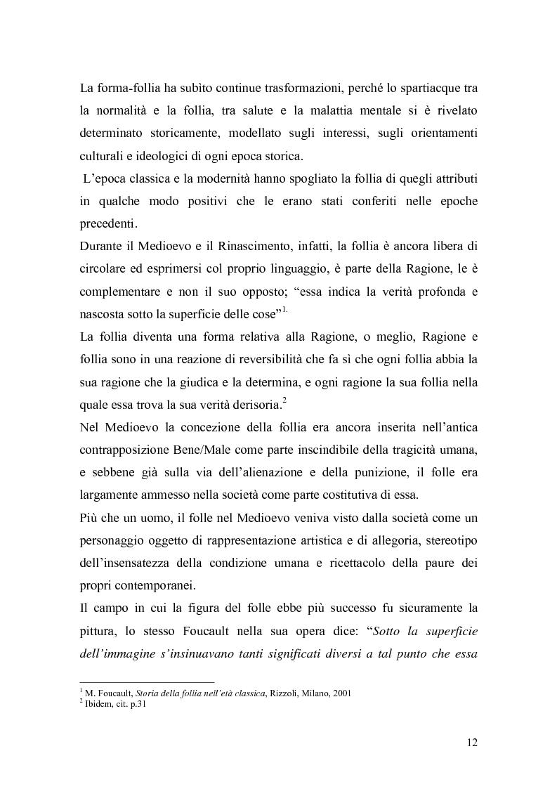 Anteprima della tesi: Il trattamento della malattia mentale. Il CSM di Rimini, Pagina 12