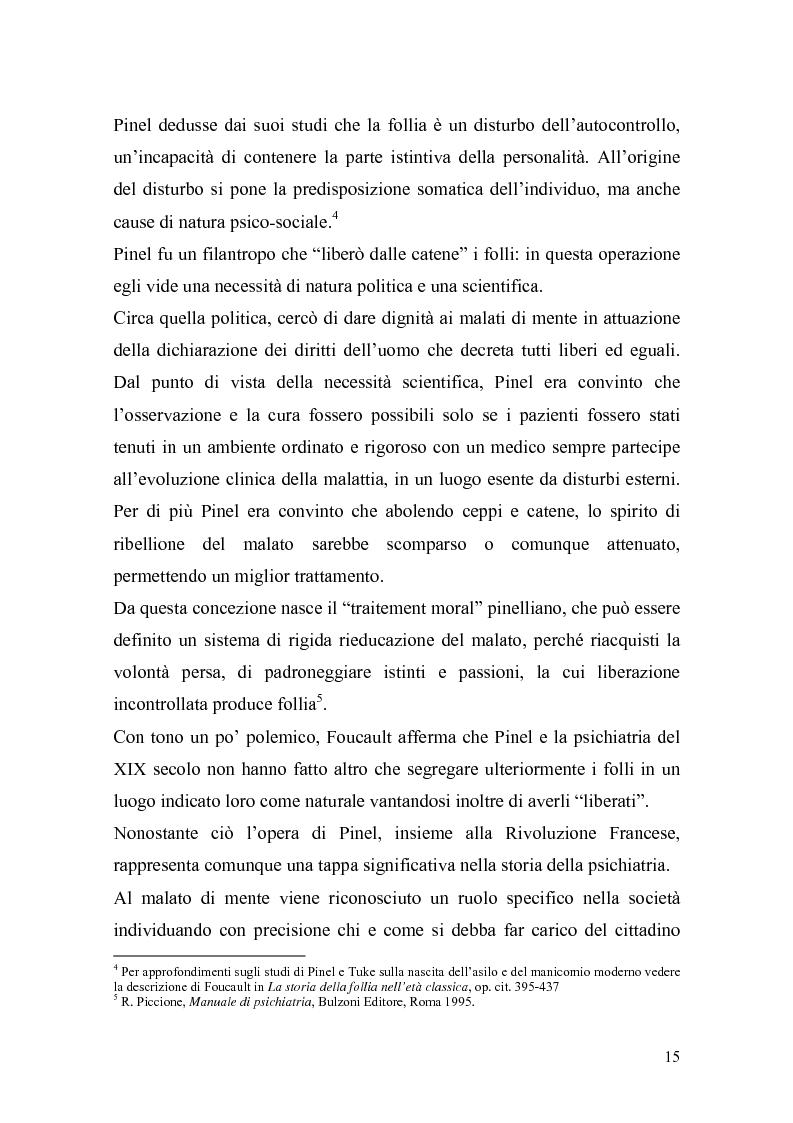 Anteprima della tesi: Il trattamento della malattia mentale. Il CSM di Rimini, Pagina 15
