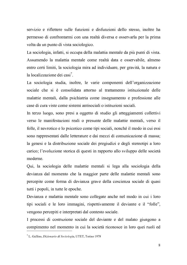 Anteprima della tesi: Il trattamento della malattia mentale. Il CSM di Rimini, Pagina 8
