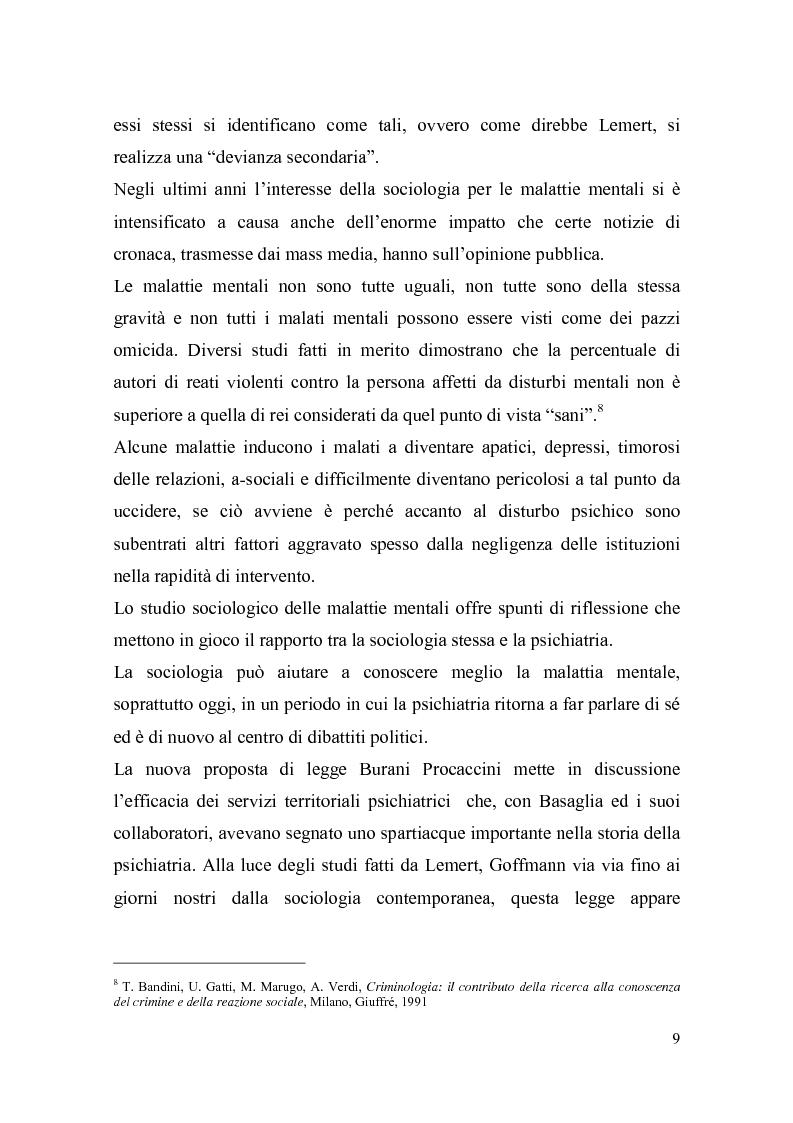 Anteprima della tesi: Il trattamento della malattia mentale. Il CSM di Rimini, Pagina 9