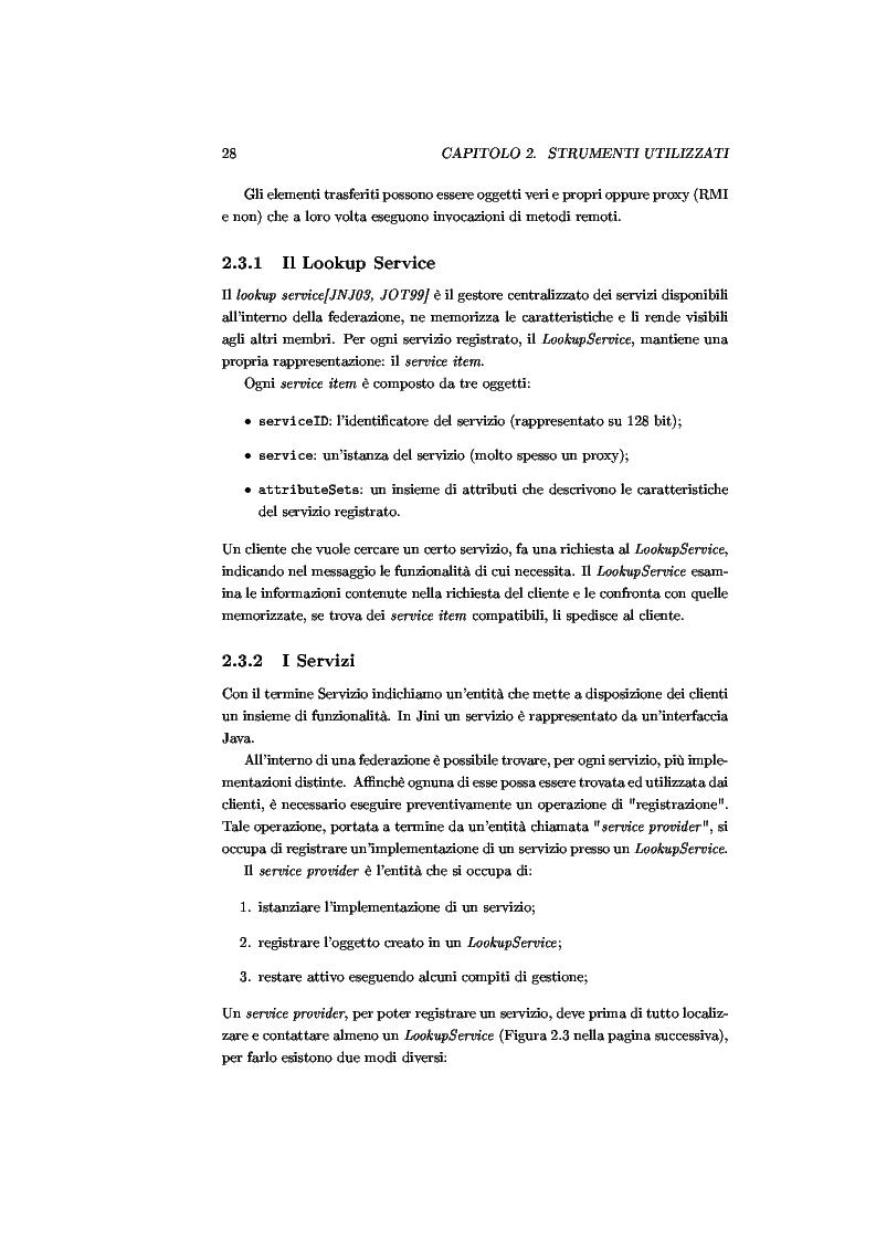 Anteprima della tesi: JJPF: uno strumento per calcolo parallelo con JINI, Pagina 14