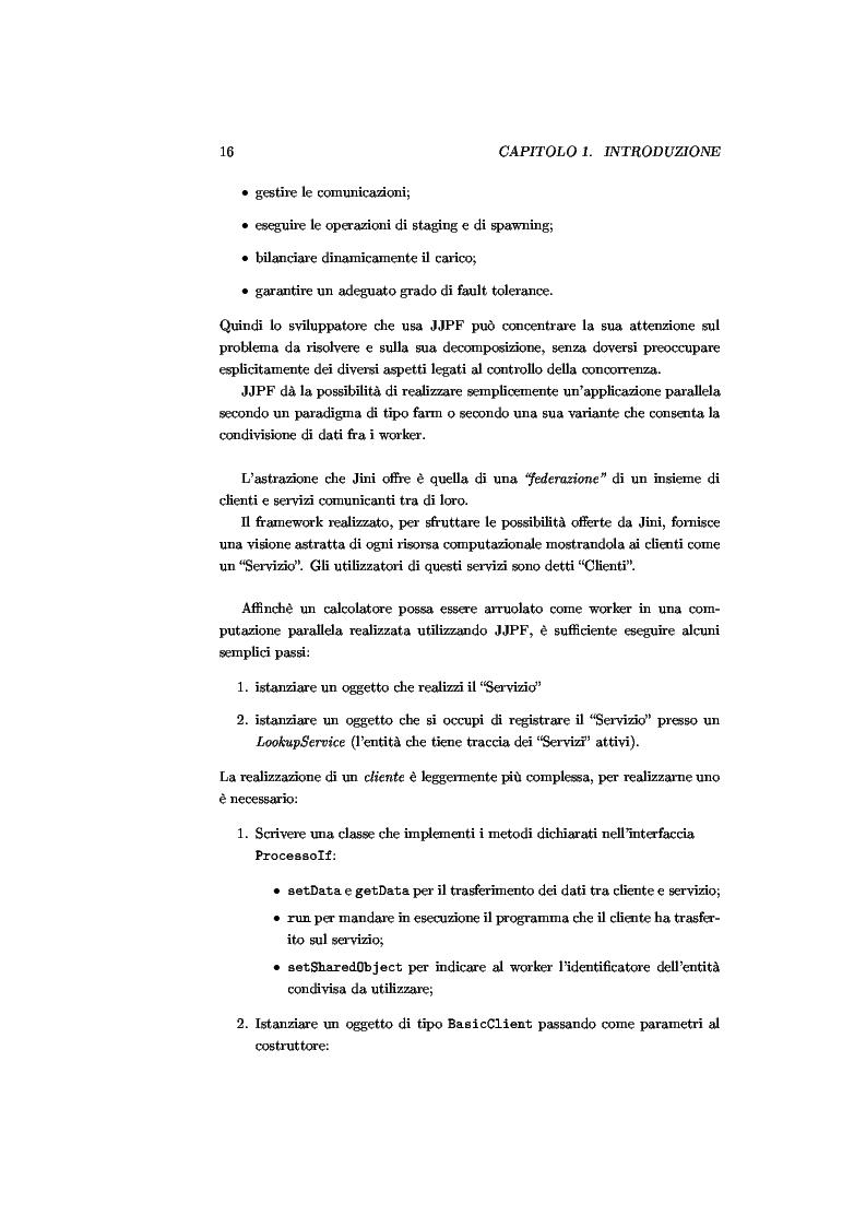Anteprima della tesi: JJPF: uno strumento per calcolo parallelo con JINI, Pagina 2