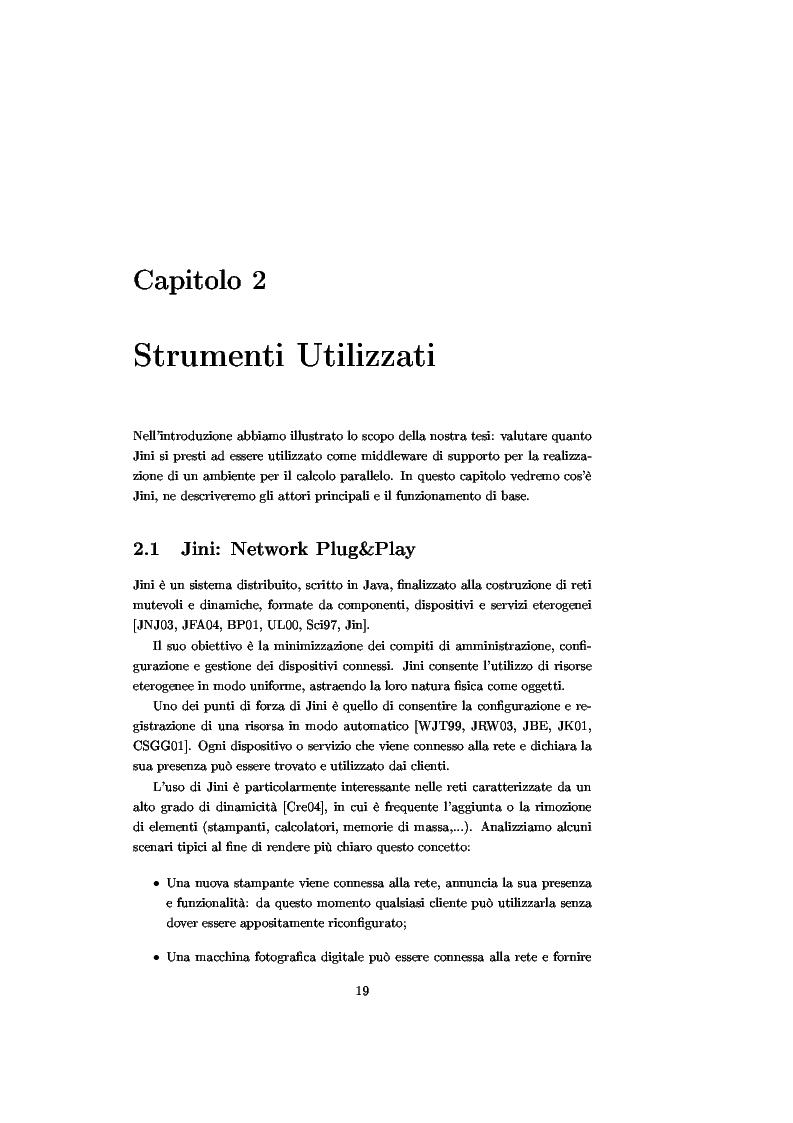 Anteprima della tesi: JJPF: uno strumento per calcolo parallelo con JINI, Pagina 5