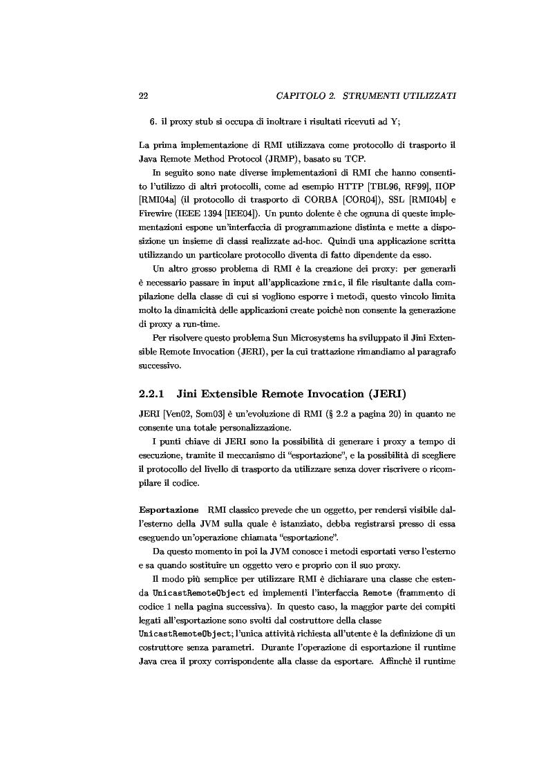 Anteprima della tesi: JJPF: uno strumento per calcolo parallelo con JINI, Pagina 8