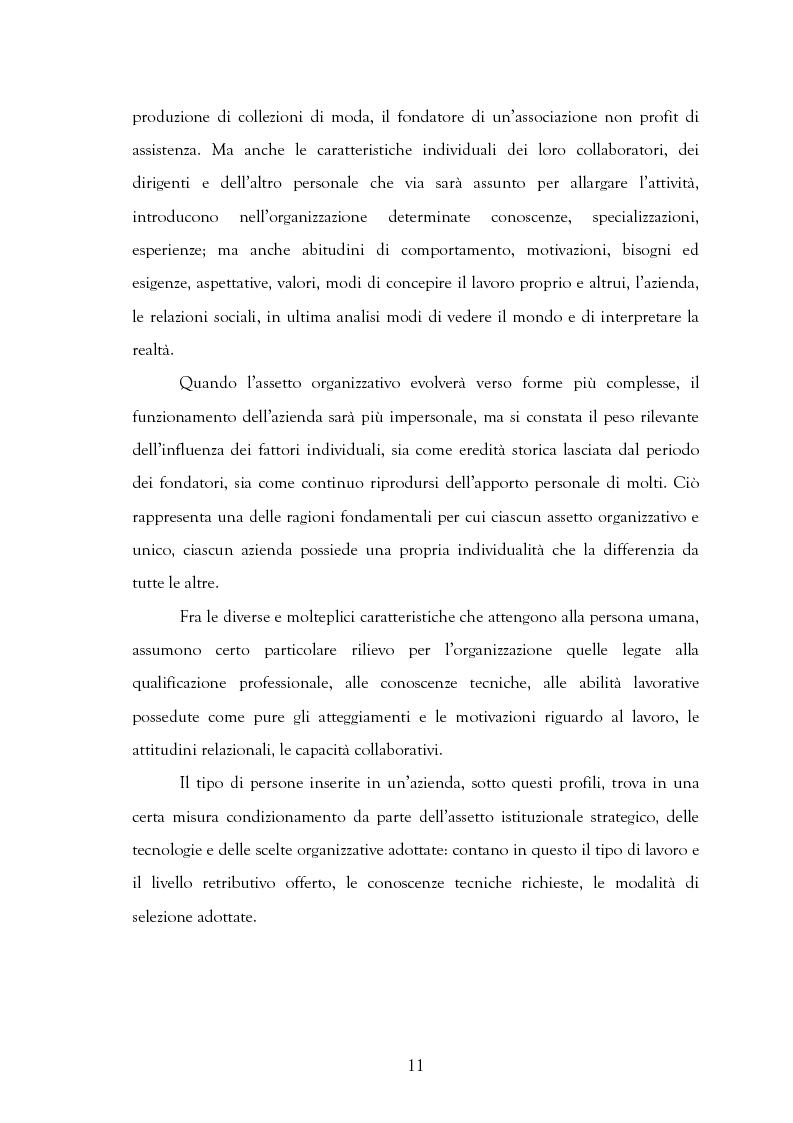 Anteprima della tesi: La motivazione nelle politiche aziendali. Il caso: Getrag SpA, Pagina 11