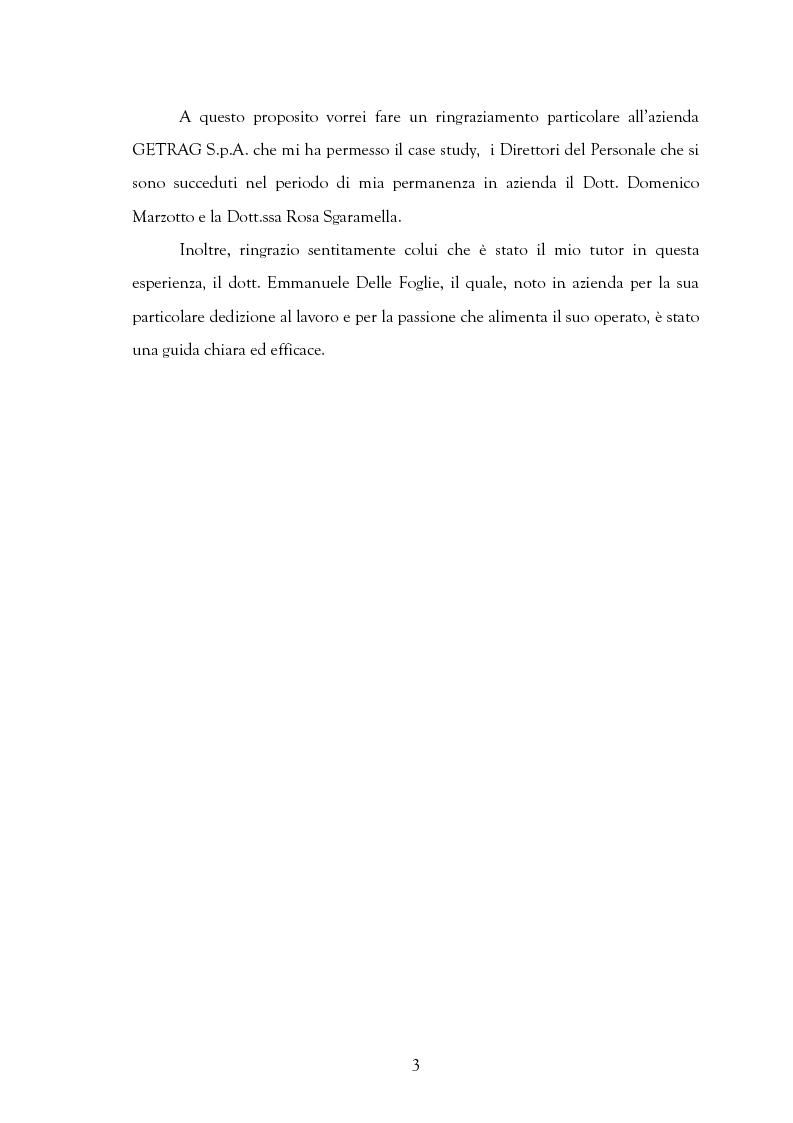 Anteprima della tesi: La motivazione nelle politiche aziendali. Il caso: Getrag SpA, Pagina 3