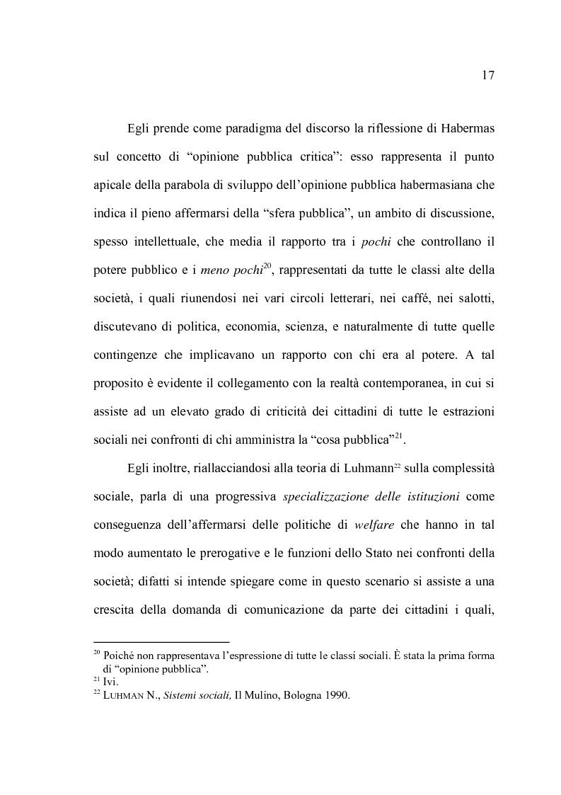 Anteprima della tesi: La comunicazione pubblica e il cambiamento del rapporto tra PA e cittadini: il caso del Comune di Altamura, Pagina 15