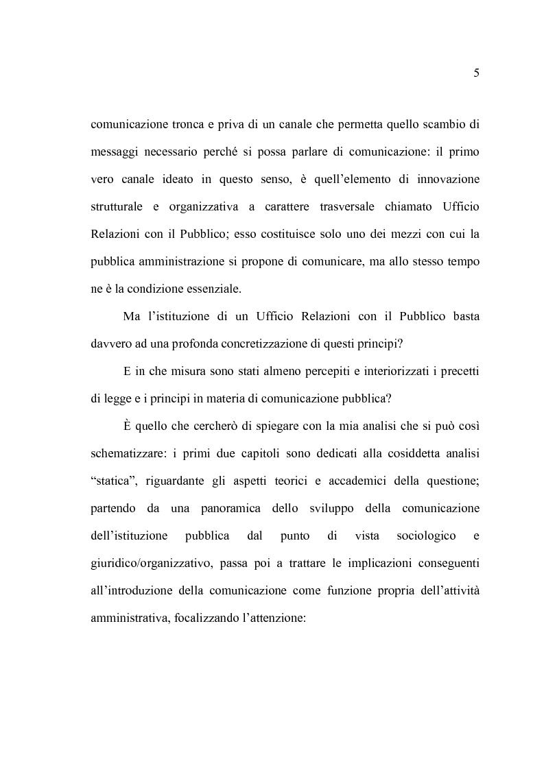 Anteprima della tesi: La comunicazione pubblica e il cambiamento del rapporto tra PA e cittadini: il caso del Comune di Altamura, Pagina 3