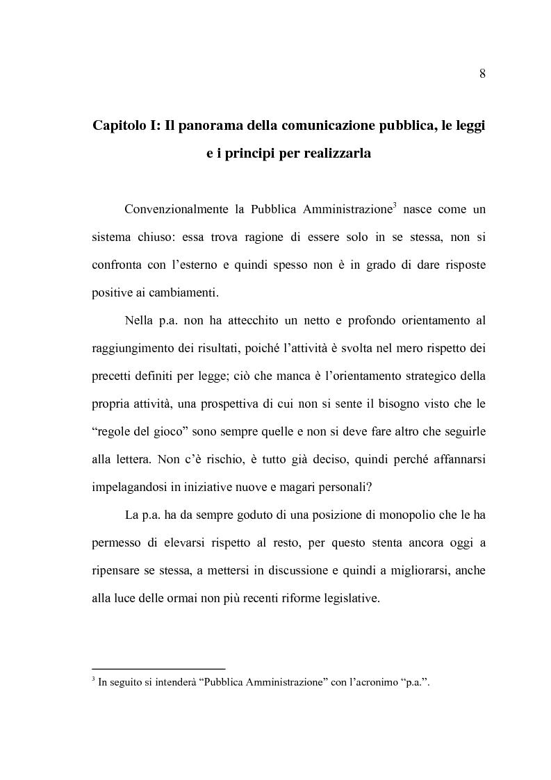 Anteprima della tesi: La comunicazione pubblica e il cambiamento del rapporto tra PA e cittadini: il caso del Comune di Altamura, Pagina 6