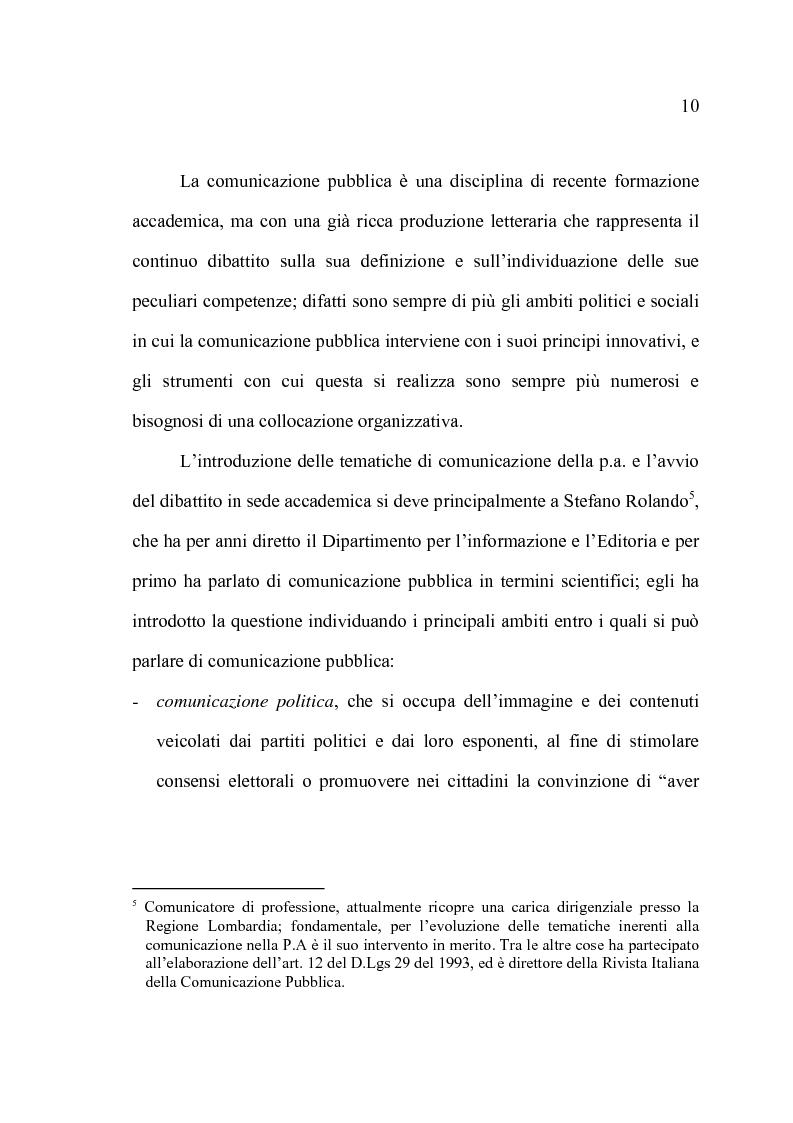 Anteprima della tesi: La comunicazione pubblica e il cambiamento del rapporto tra PA e cittadini: il caso del Comune di Altamura, Pagina 8