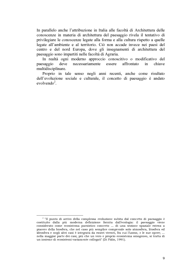 Anteprima della tesi: Il paesaggio agrario e le politiche paesaggistiche della regione Umbria, Pagina 6