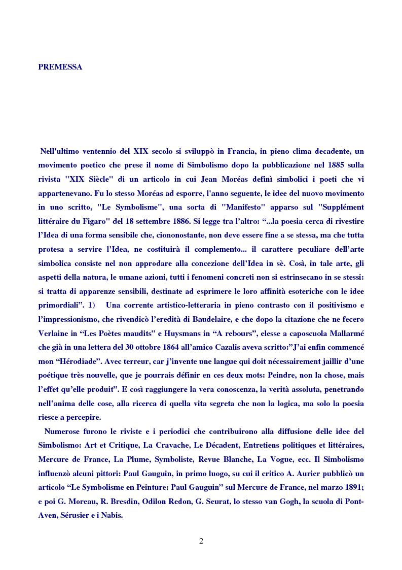 Anteprima della tesi: Paul Valéry, Pagina 1